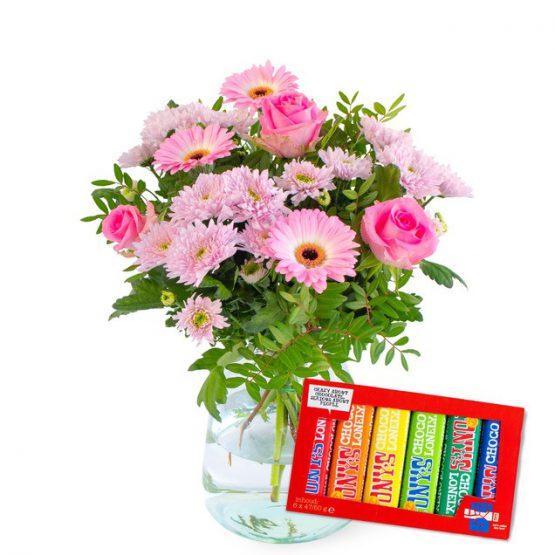 Boeket Roze schoonheid + Tony's Proeverijtje